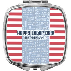 Labor Day Compact Makeup Mirror (Personalized)