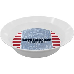 Labor Day Melamine Bowls (Personalized)