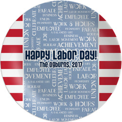 """Labor Day Melamine Plate - 8"""" (Personalized)"""