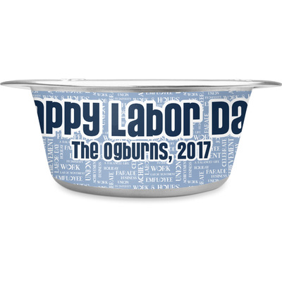 Labor Day Stainless Steel Dog Bowl (Personalized)
