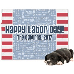 Labor Day Minky Dog Blanket (Personalized)