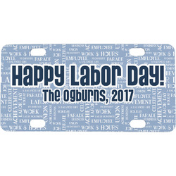Labor Day Mini / Bicycle License Plate (Personalized)