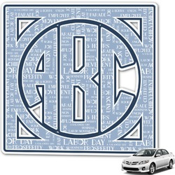 Labor Day Monogram Car Decal (Personalized)