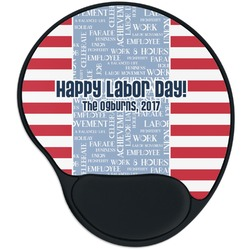 Labor Day Mouse Pad with Wrist Support