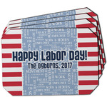 Labor Day Dining Table Mat - Octagon w/ Name or Text