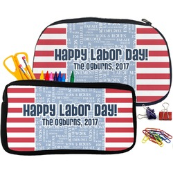Labor Day Pencil / School Supplies Bag (Personalized)