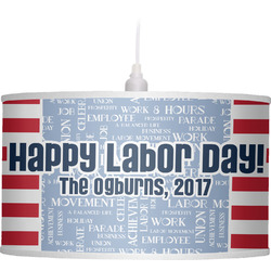 Labor Day Drum Pendant Lamp Poly-Film (Personalized)