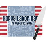 Labor Day Rectangular Glass Cutting Board (Personalized)