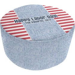 Labor Day Round Pouf Ottoman (Personalized)