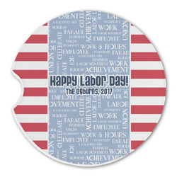 Labor Day Sandstone Car Coasters (Personalized)