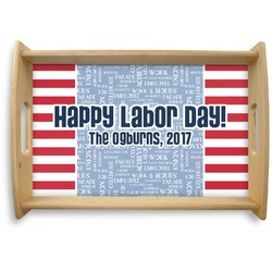 Labor Day Natural Wooden Tray (Personalized)