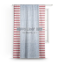 Labor Day Sheer Curtains (Personalized)