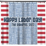 Labor Day Shower Curtain (Personalized)