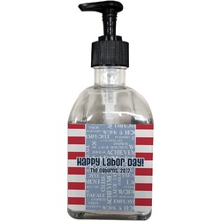 Labor Day Soap/Lotion Dispenser (Glass) (Personalized)