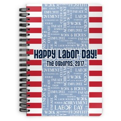 Labor Day Spiral Bound Notebook (Personalized)