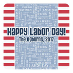 Labor Day Square Decal (Personalized)