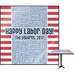 Labor Day Square Table Top (Personalized)