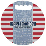 Labor Day Stadium Cushion (Round) (Personalized)