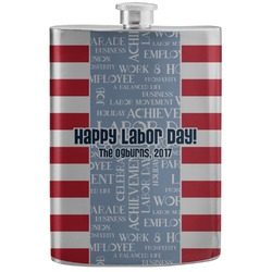Labor Day Stainless Steel Flask (Personalized)
