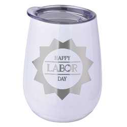 Labor Day Stemless Wine Tumbler - 5 Color Choices - Stainless Steel  (Personalized)