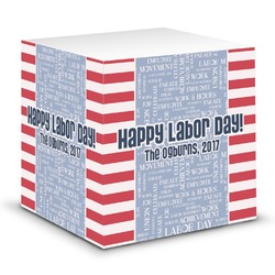 Labor Day Sticky Note Cube (Personalized)