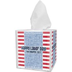 Labor Day Tissue Box Cover (Personalized)