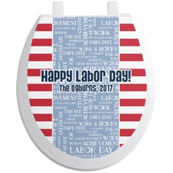 Labor Day Toilet Seat Decal (Personalized)