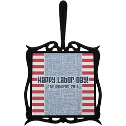 Labor Day Trivet with Handle (Personalized)