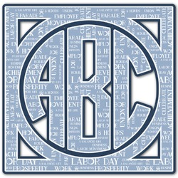 Labor Day Monogram Decal - Custom Sized (Personalized)