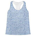Labor Day Womens Racerback Tank Top (Personalized)