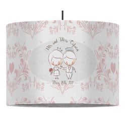 Wedding People Drum Pendant Lamp (Personalized)