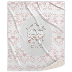 Wedding People Sherpa Throw Blanket (Personalized)