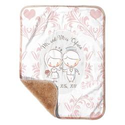 "Wedding People Sherpa Baby Blanket 30"" x 40"" (Personalized)"