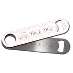 Wedding People Bar Bottle Opener w/ Couple's Names