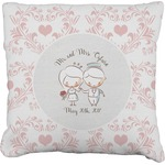 Wedding People Faux-Linen Throw Pillow (Personalized)