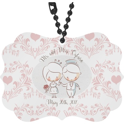 Wedding People Rear View Mirror Decor (Personalized)