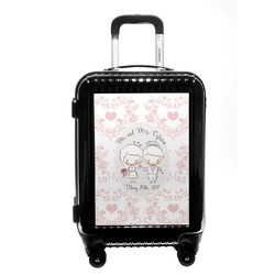 Wedding People Carry On Hard Shell Suitcase (Personalized)