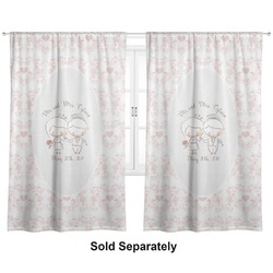 "Wedding People Curtains - 56""x80"" Panels - Lined (2 Panels Per Set) (Personalized)"