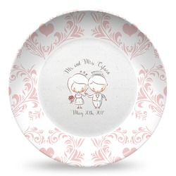 Wedding People Microwave Safe Plastic Plate - Composite Polymer (Personalized)
