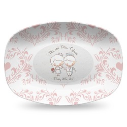 Wedding People Plastic Platter - Microwave & Oven Safe Composite Polymer (Personalized)