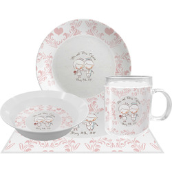 Wedding People Dinner Set - 4 Pc (Personalized)