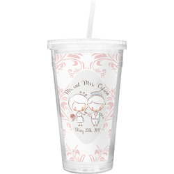 Wedding People Double Wall Tumbler with Straw (Personalized)