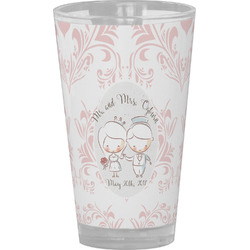 Wedding People Drinking / Pint Glass (Personalized)
