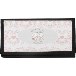 Wedding People Canvas Checkbook Cover (Personalized)