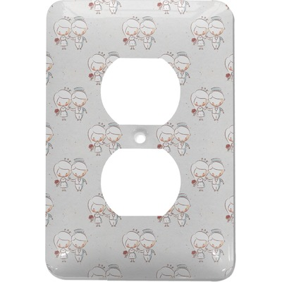 Wedding People Electric Outlet Plate (Personalized)