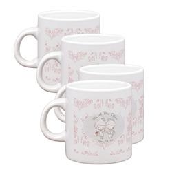 Wedding People Espresso Mugs - Set of 4 (Personalized)