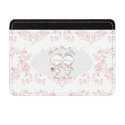 Wedding People Genuine Leather Front Pocket Wallet (Personalized)