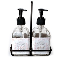 Wedding People Soap & Lotion Dispenser Set (Glass) (Personalized)