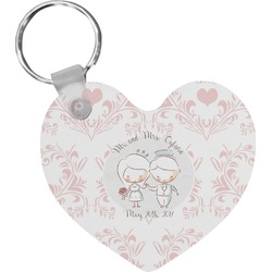 Wedding People Heart Keychain (Personalized)