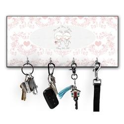 Wedding People Key Hanger w/ 4 Hooks (Personalized)
